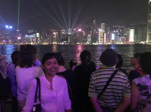 AJ at Hong Kong Symphony of Lights