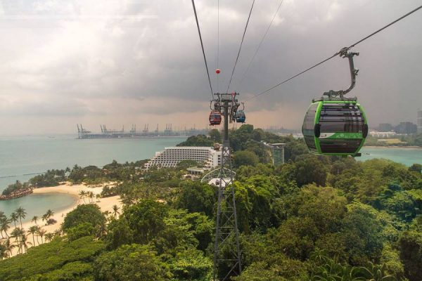 Singapore Things To Do - Sentosa Island By Cable Car